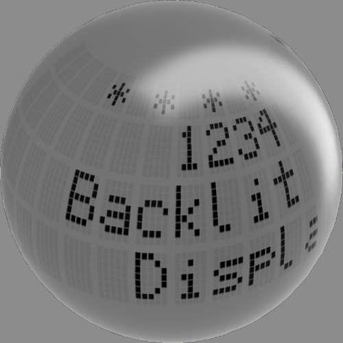 fudsion360レンダリングの表示-4x20-LCD球
