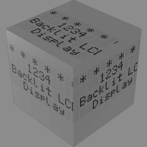 fudsion360レンダリングの表示-4x20-LCD直方体