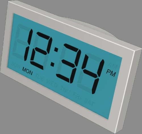 fudsion360レンダリングの表示-7 セグメント-LCD時計
