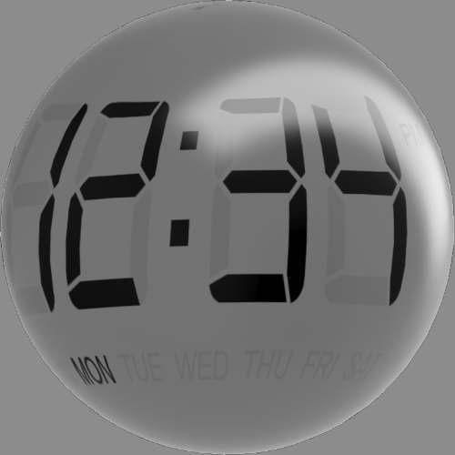fudsion360レンダリングの表示-7 セグメント-LCD球