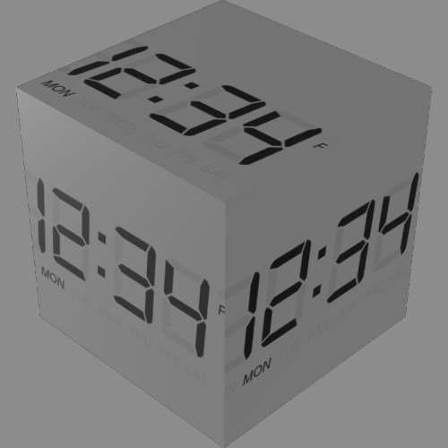 fudsion360レンダリングの表示-7 セグメント-LCD直方体