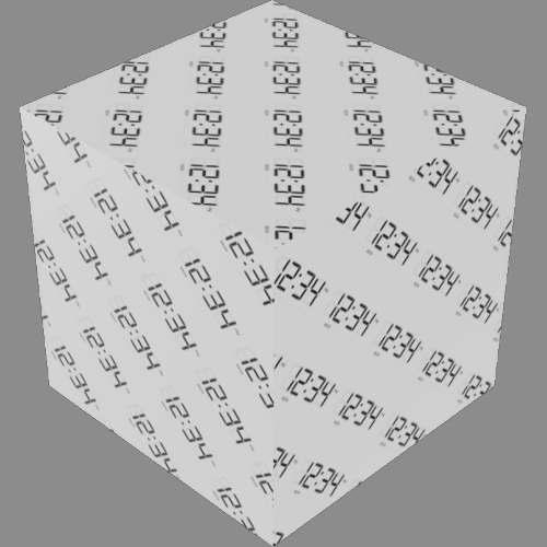 fudsion360レンダリングの表示-7 セグメント-LCD適当に編集
