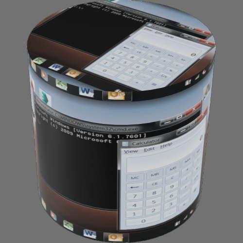 fudsion360レンダリングの表示-LCD円柱