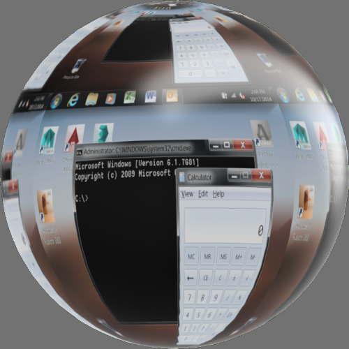 fudsion360レンダリングの表示-LCD球