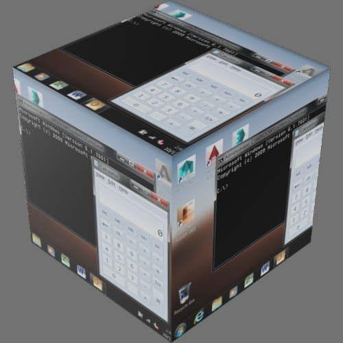 fudsion360レンダリングの表示-LCD直方体