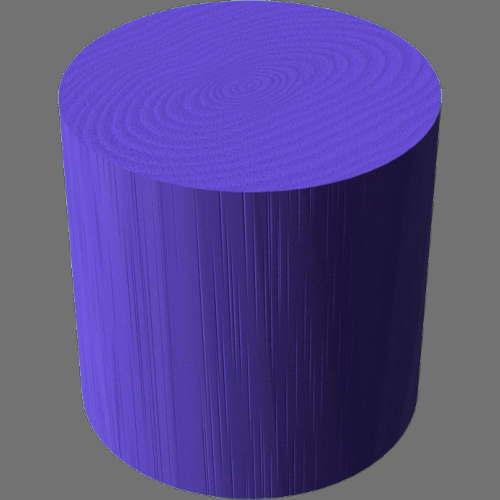 fudsion360レンダリングの3D Ash-Painted円柱