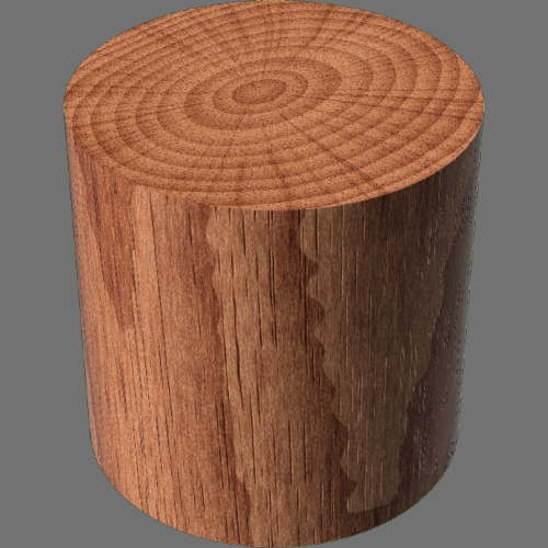 fudsion360レンダリングの3D Cherry円柱