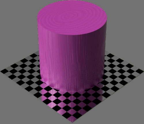 fudsion360レンダリングの3D Cherry-Painted円柱