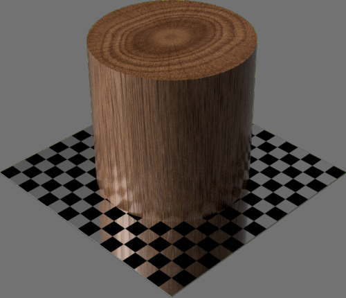 fudsion360レンダリングの3D Mahogany円柱