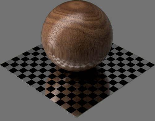 fudsion360レンダリングの3D Mahogany球
