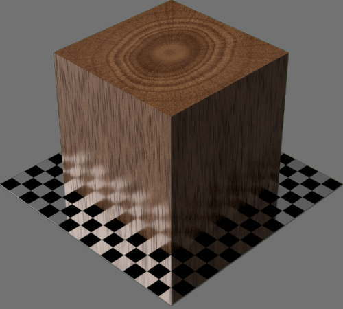fudsion360レンダリングの3D Mahogany直方体