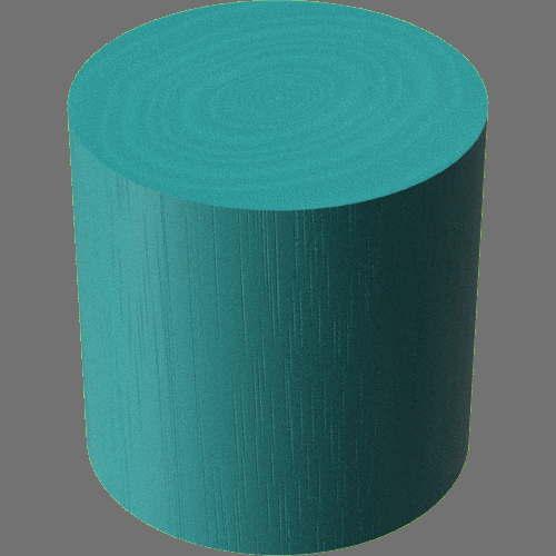 fudsion360レンダリングの3D Mahogany-Painted円柱