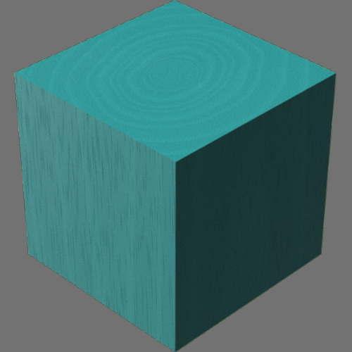 fudsion360レンダリングの3D Mahogany-Painted直方体