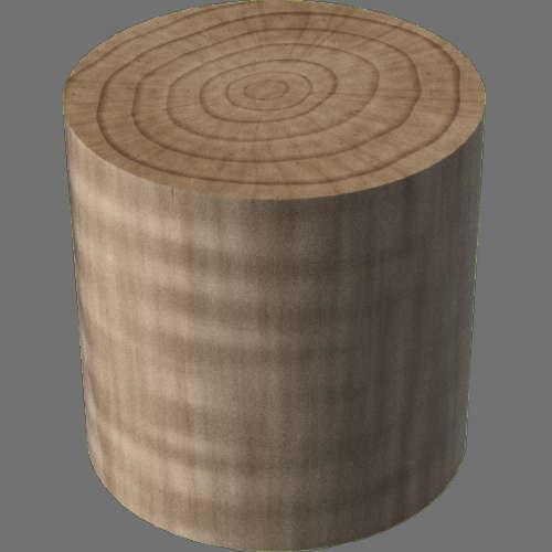 fudsion360レンダリングの3D Maple円柱
