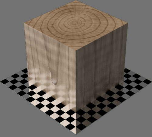 fudsion360レンダリングの3D Maple直方体
