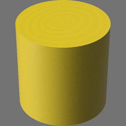 fudsion360レンダリングの3D Maple-Painted円柱
