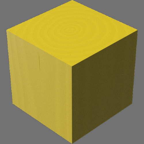 fudsion360レンダリングの3D Maple-Painted直方体