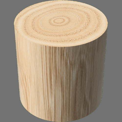 fudsion360レンダリングの3D Oak円柱