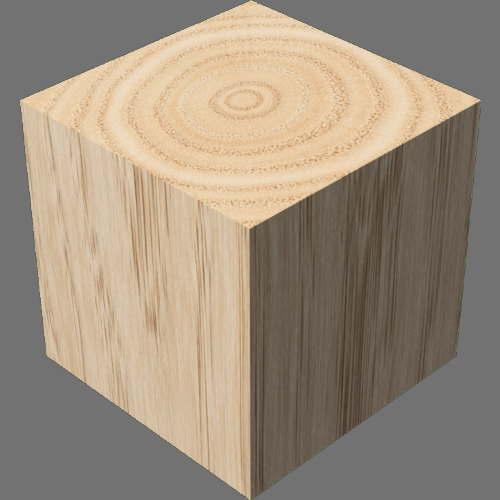fudsion360レンダリングの3D Oak直方体