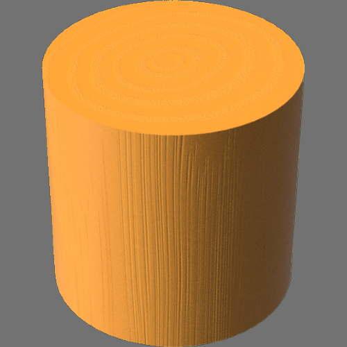 fudsion360レンダリングの3D Oak-Painted円柱