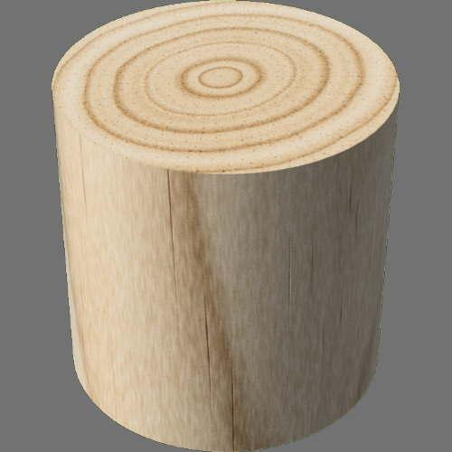fudsion360レンダリングの3D Pine円柱
