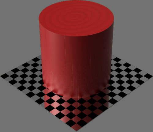 fudsion360レンダリングの3D Pine-Painted円柱