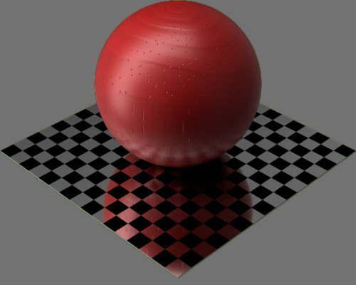 fudsion360レンダリングの3D Pine-Painted球