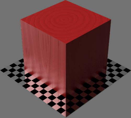 fudsion360レンダリングの3D Pine-Painted直方体