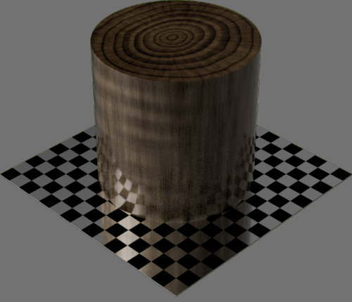 fudsion360レンダリングの3D Walnut円柱