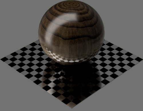 fudsion360レンダリングの3D Walnut球
