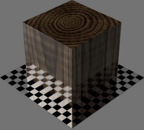 fudsion360レンダリングの3D Walnut直方体
