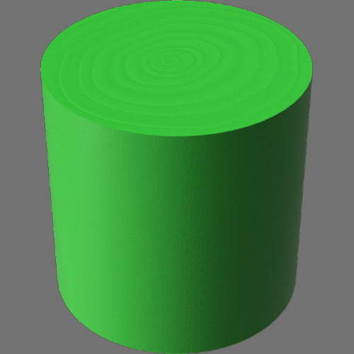 fudsion360レンダリングの3D Walnut-Painted円柱
