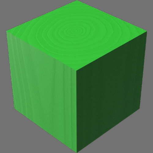 fudsion360レンダリングの3D Walnut-Painted直方体
