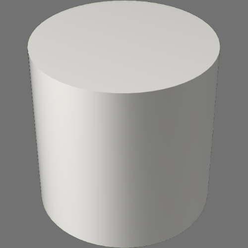 fudsion360レンダリングのBase material-Layered円柱