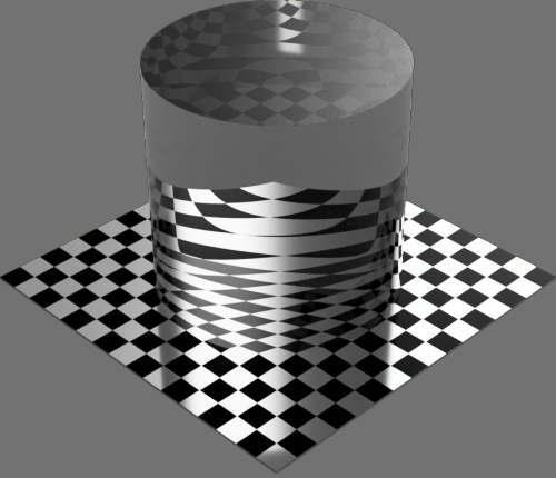 fudsion360レンダリングのBase material-Transparent円柱