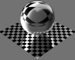 fudsion360レンダリングのBase material-Transparent球