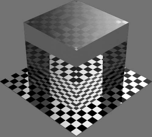 fudsion360レンダリングのBase material-Transparent直方体
