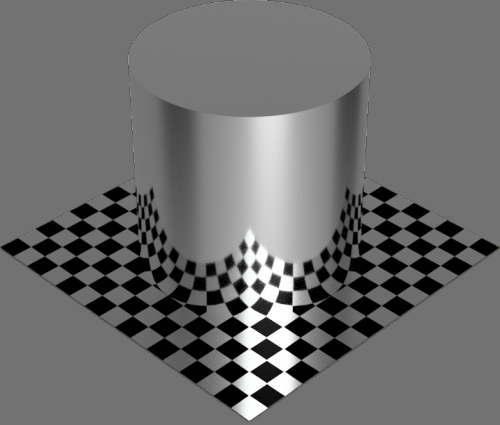 fudsion360レンダリングのBase material-metal円柱2