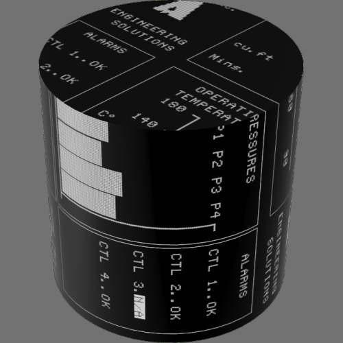 fudsion360レンダリングのDisplay-Electrolum円柱
