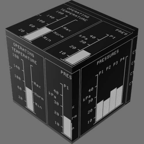 fudsion360レンダリングのDisplay-Electrolum直方体