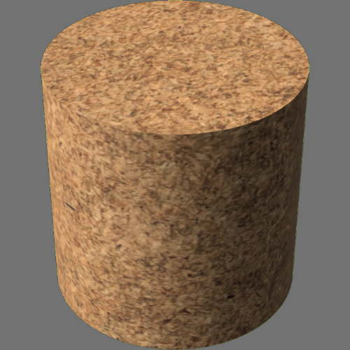 fudsion360レンダリングのHardBoard円柱