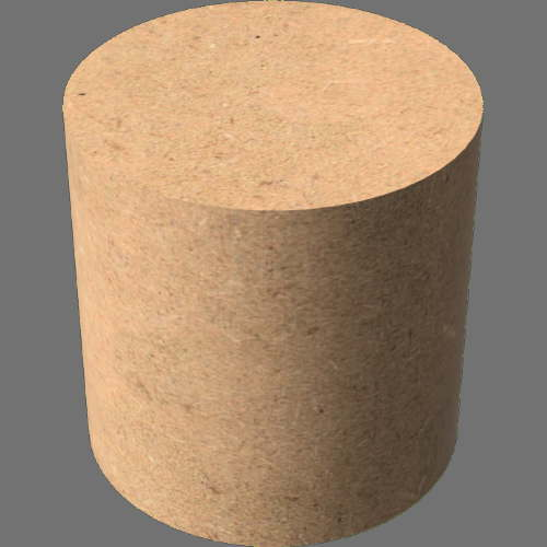 fudsion360レンダリングのMDFBoard円柱