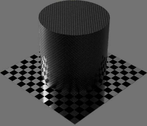 fudsion360 カーボンファイバー平織り円柱