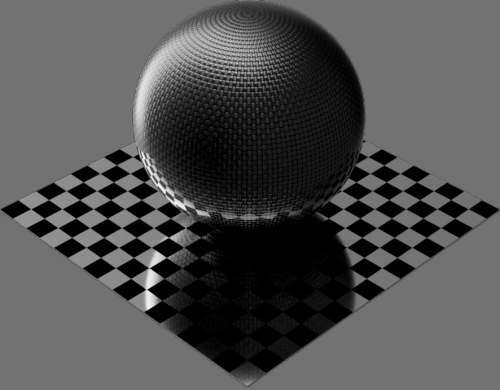 fudsion360 カーボンファイバー平織り球2