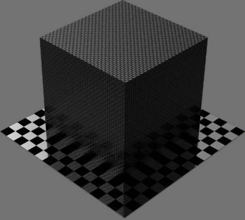 fudsion360 カーボンファイバー平織り直方体
