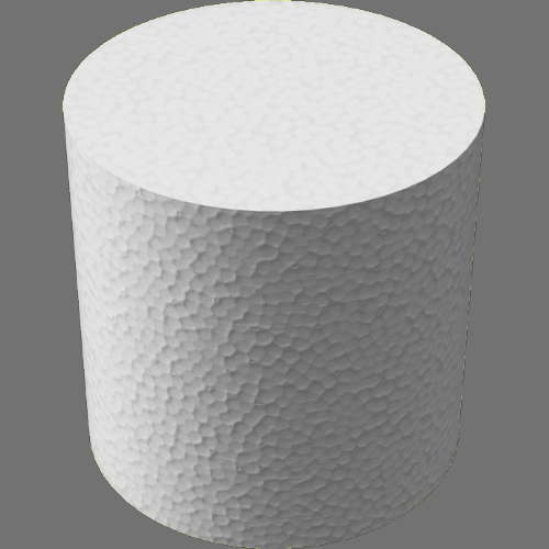 fudsion360 ポリスチレン円柱