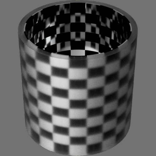 fudsion360 レンダリングのガラス-スリ円柱