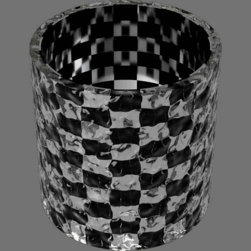 fudsion360 レンダリングのガラス-ノイズ円柱