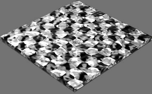 fudsion360 レンダリングのガラス-ノイズ直方体