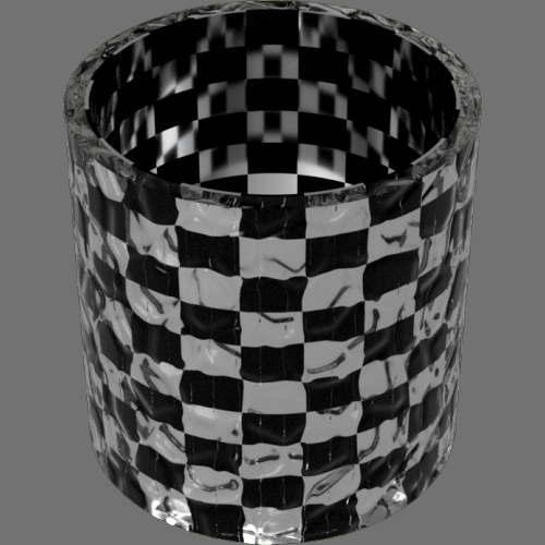 fudsion360 レンダリングのガラス-モザイク円柱